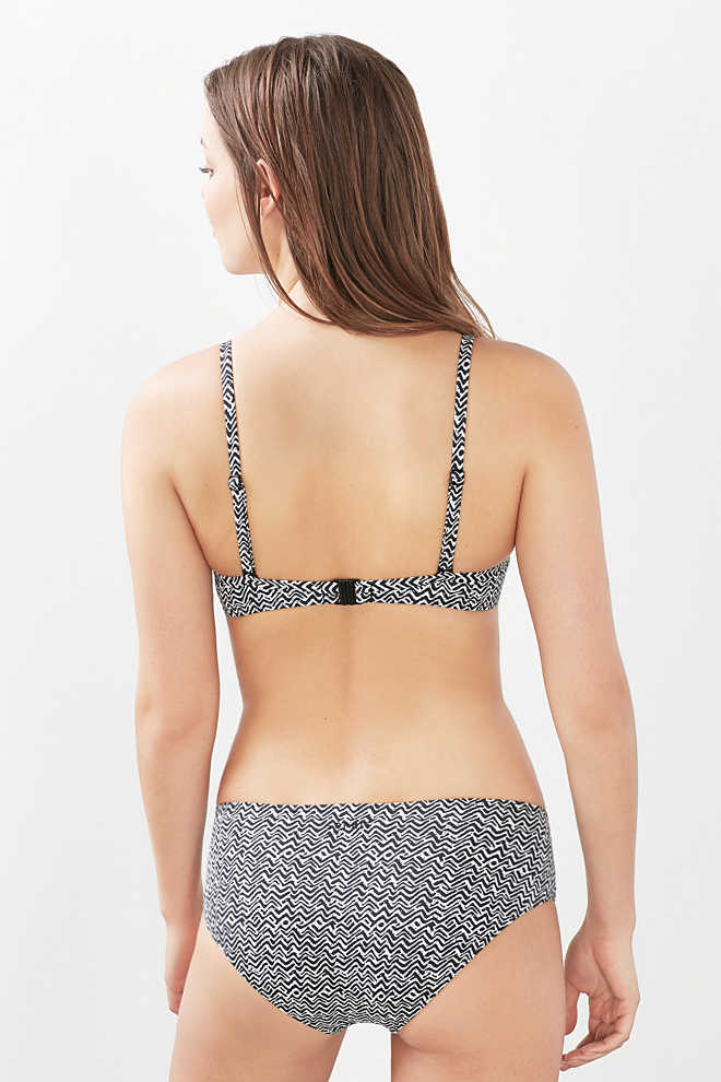 Esprit / Wattiertes Push-up-Top mit Minimal-Print