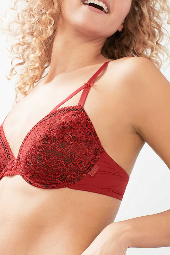 Esprit / Lace bra with multi-way straps