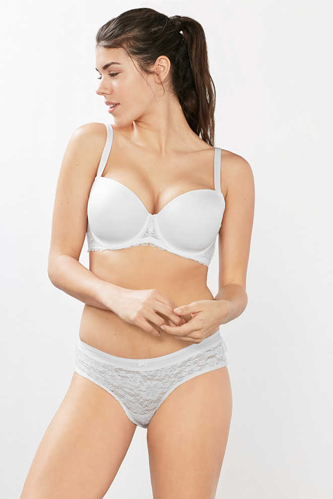 Esprit / Padded big cup underwire bra with lace