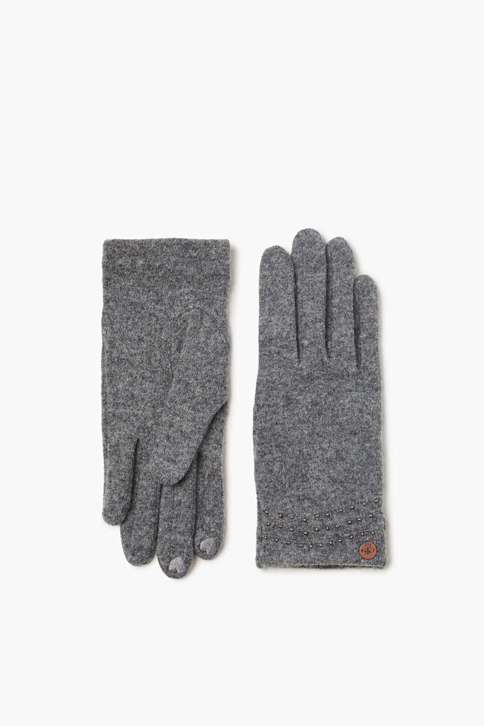 Fine beading makes these gloves with a percentage of soft wool an elegant winter accessory.