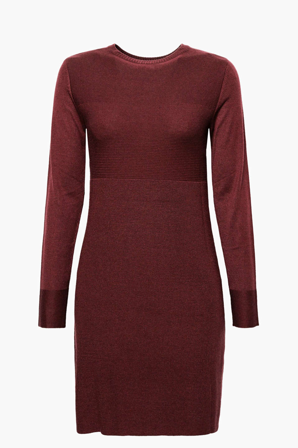 Everyday favourite: the fine-knit fabric with varying textures gives this dress an attractive look