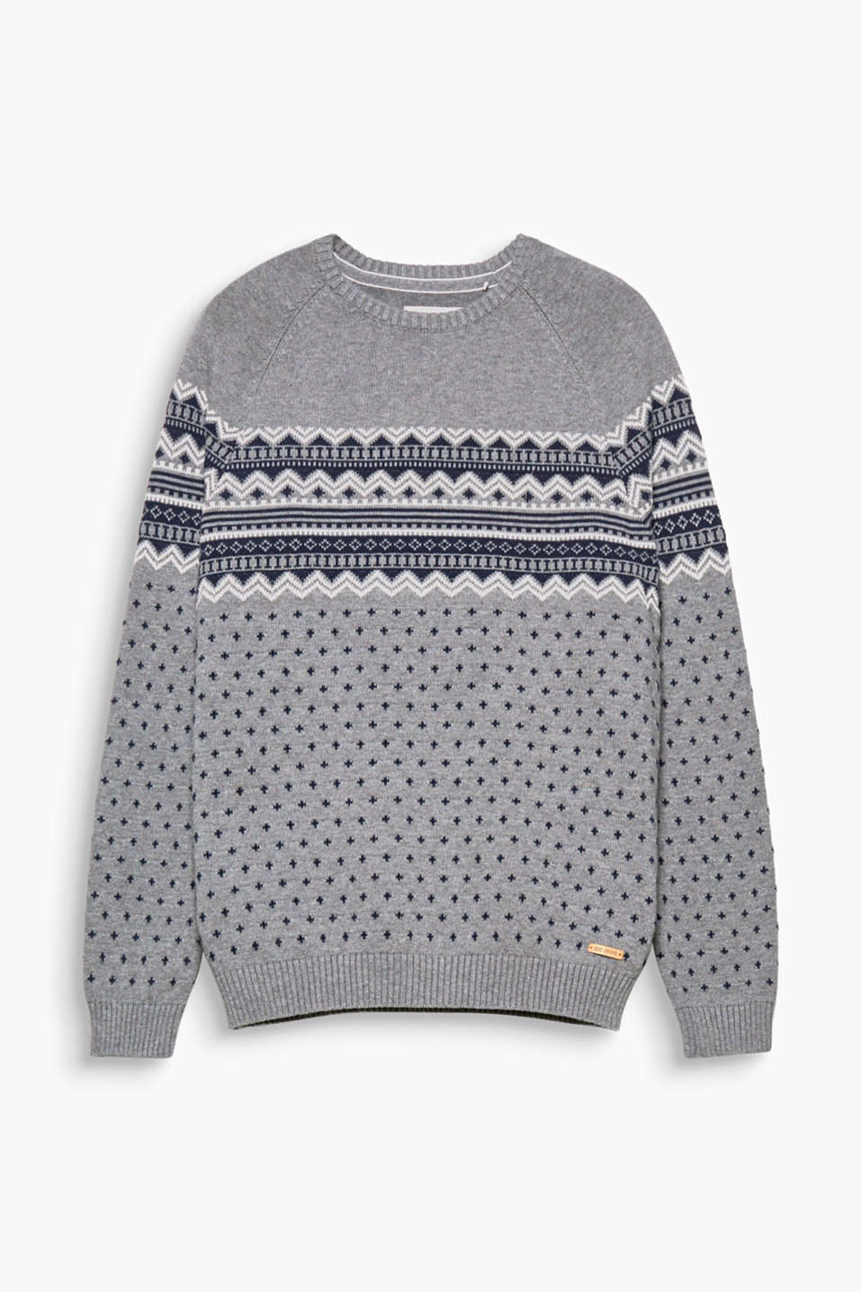 This cotton jumper features an authentic Norwegian pattern with little interwoven stars for an exciting new twist!