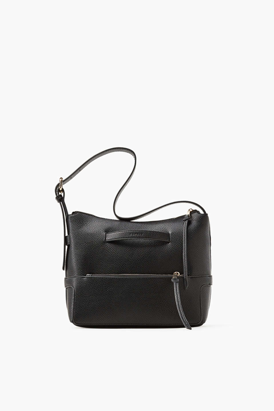 Compact and elegant! This shoulder bag impresses with its authentic-looking faux leather and timeless design.