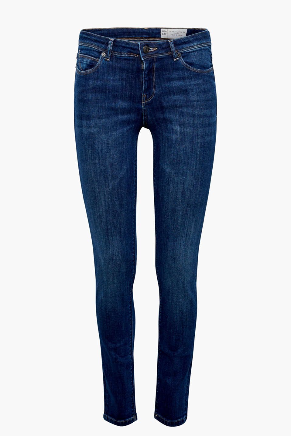 Slim jeans with a high percentage of stretch, five pockets and whiskering effects are skin-tight + super comfortable!