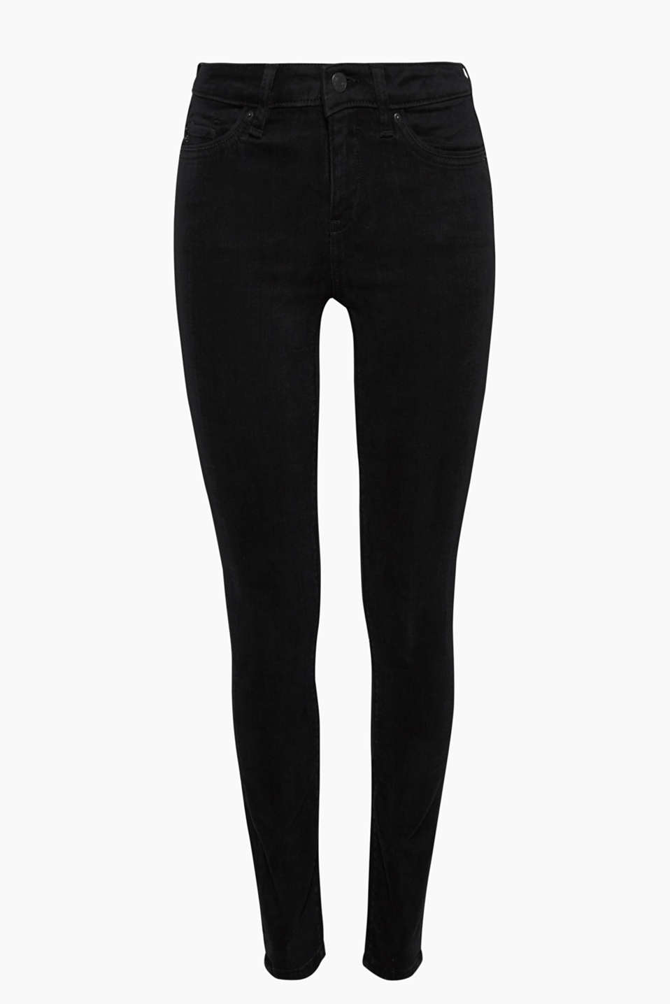 They create a sensational silhouette: black, high-waisted stretch jeans mainly made of organic cotton!