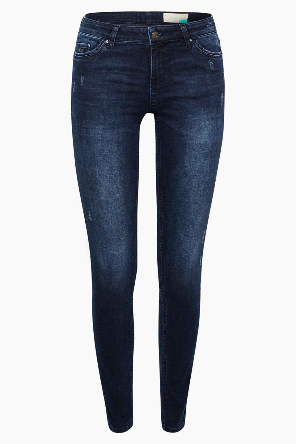 Feel good - in these skin-tight, trendily washed stretch jeans made of organic cotton with a cool vintage finish!