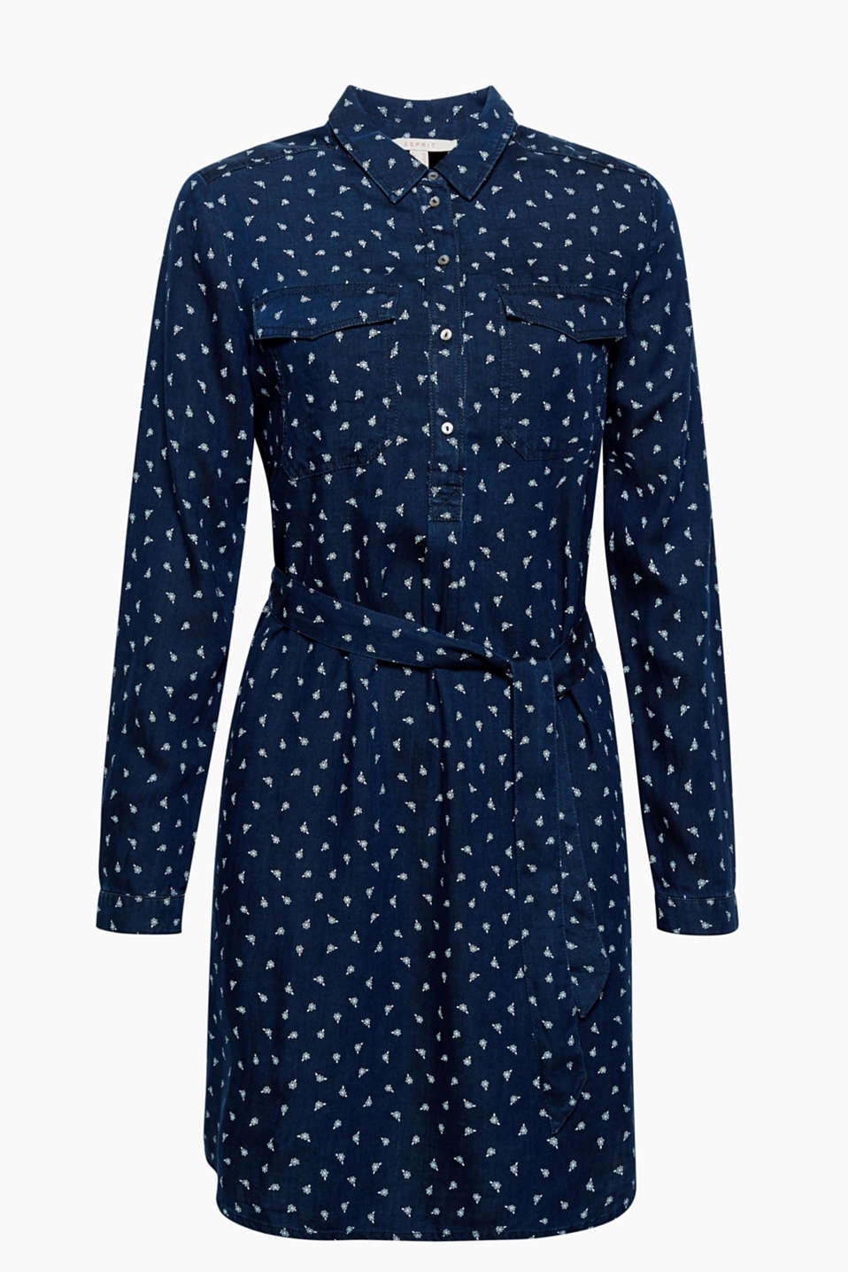 Soft, flowing and with a pretty print: this shirt blouse dress has a feminine yet casual look!