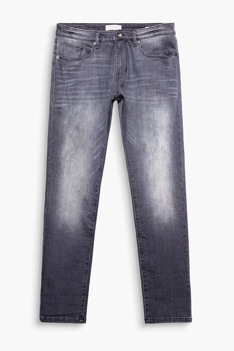 We love Used Washed Denim! Die authentischen Wascheffekte geben diese 5-Pocket-Jeans ihren coolen Look,