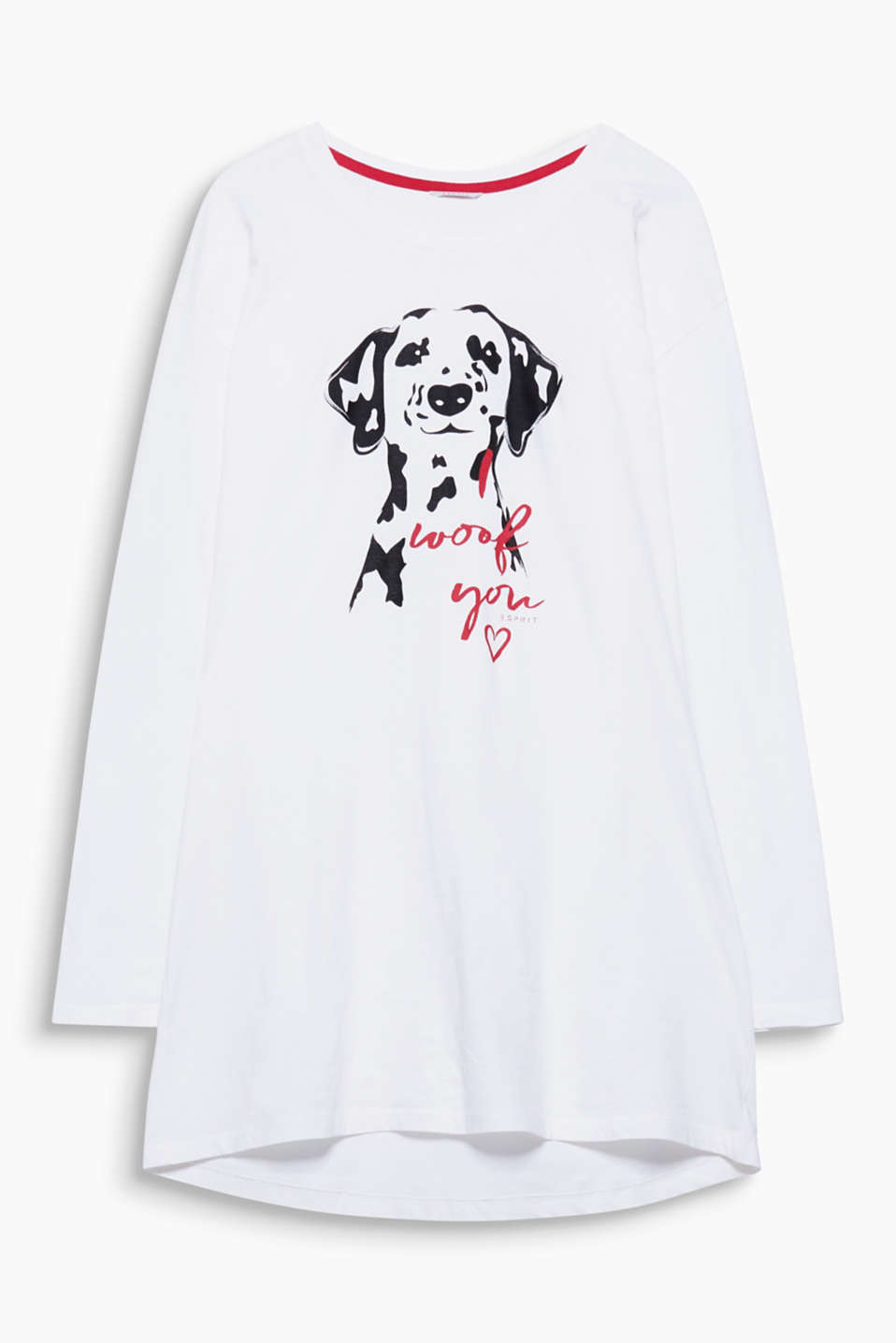 Feels soft and looks original: The dog head print on this soft jersey nightshirt is definitely a head-turner!