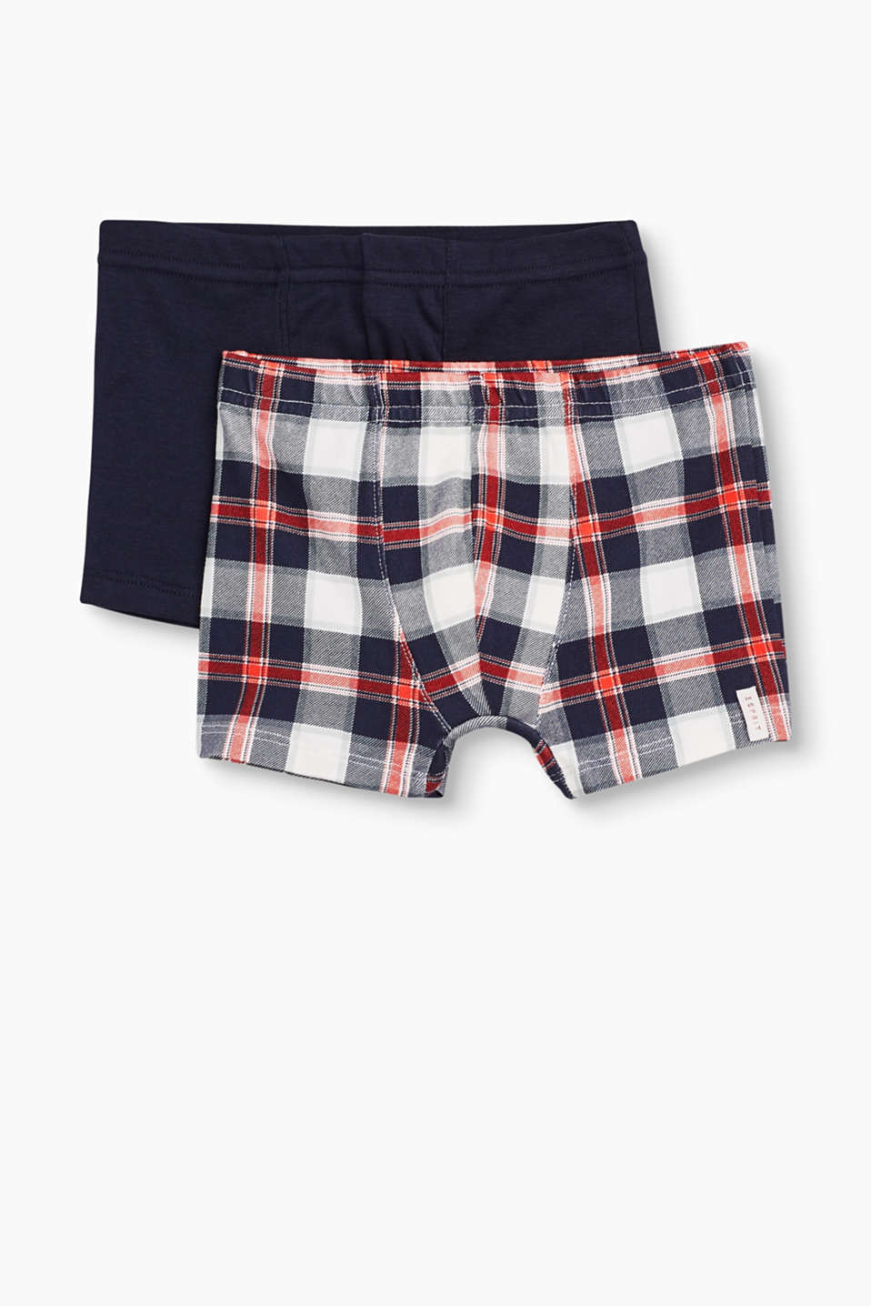 Super comfortable and sporty: cotton boxer shorts in a practical double pack