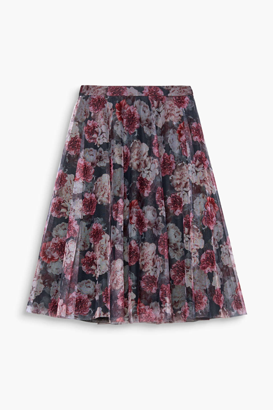 A dream of tulle and flowers: this swirling midi skirt with an all-over floral print will put you straight in the limelight!