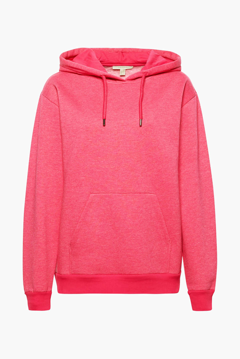 This hoodie made from dense sweatshirt fabric is a favourite piece with a feel-good factor.