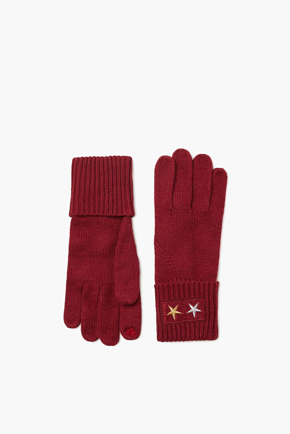 We love knitwear! These sporty gloves impress with their fine knit and sporty star detail.