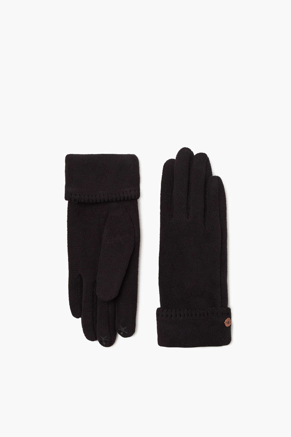 edc fleece handschuhe mit teddy futter im online shop kaufen. Black Bedroom Furniture Sets. Home Design Ideas
