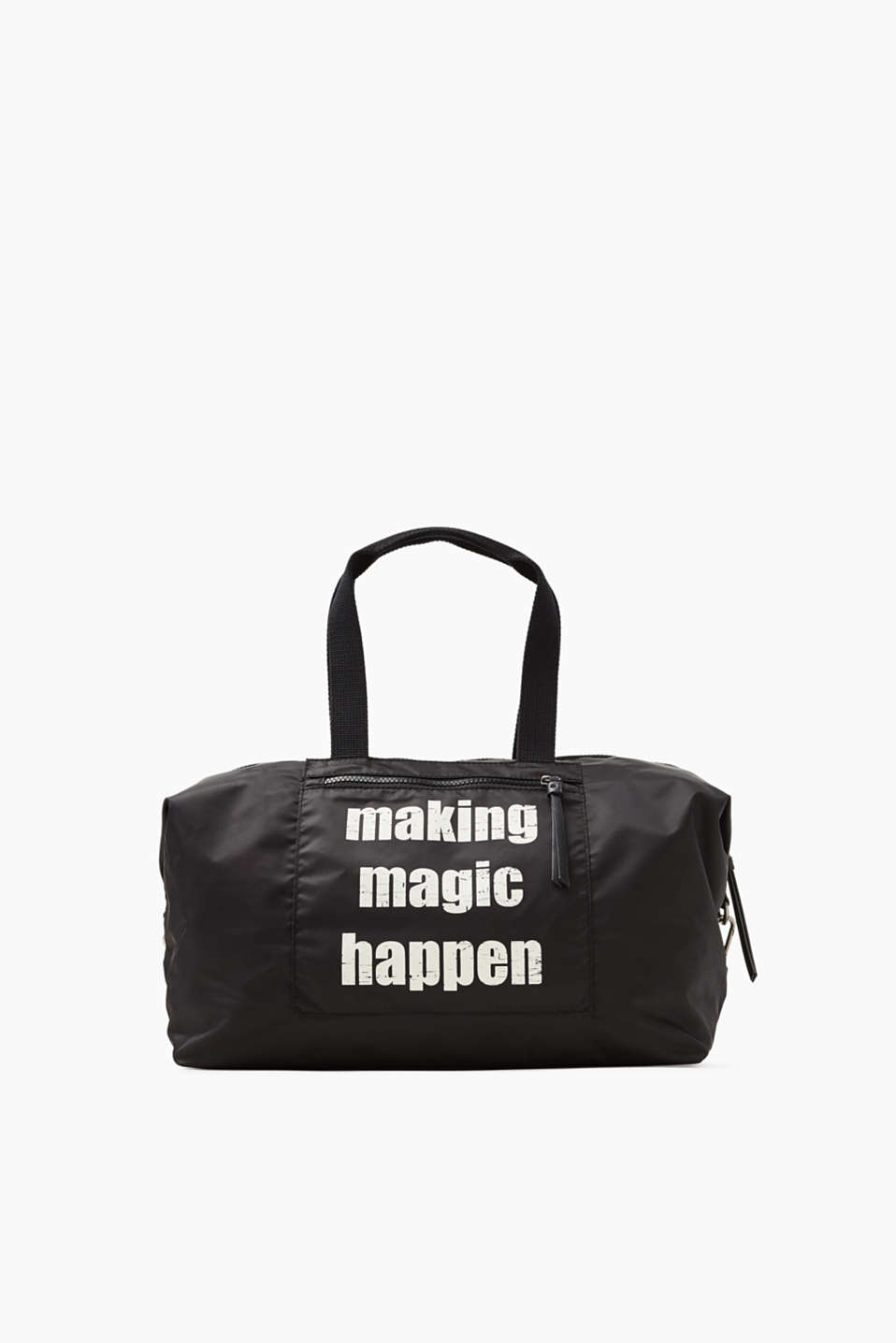 Making magic happen! The lightweight nylon and cool statement make this carry-all bag something a little bit special.