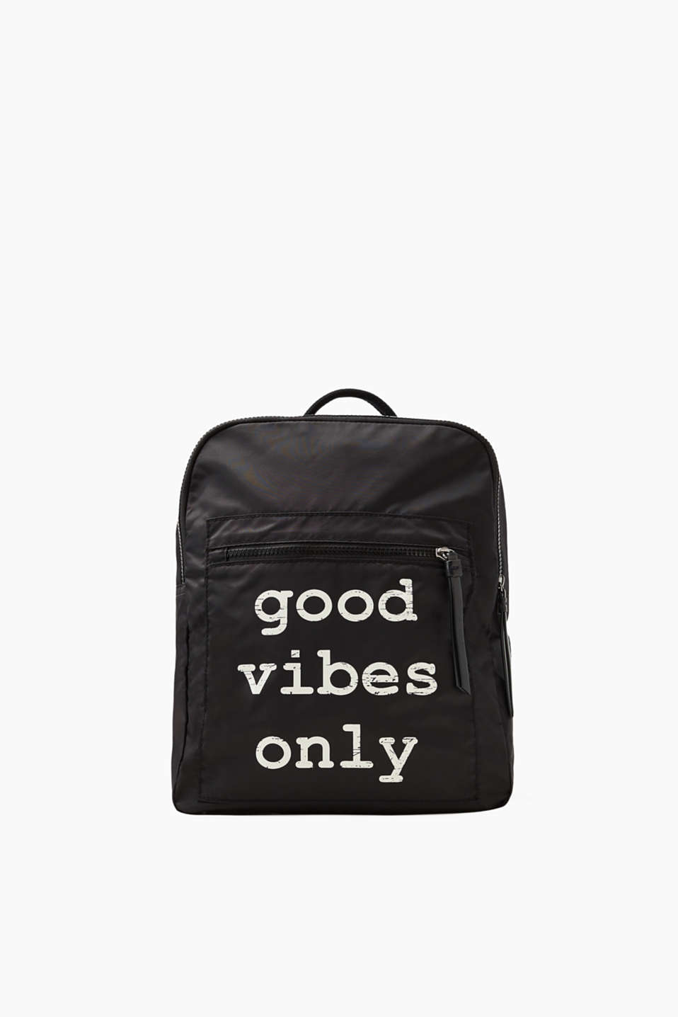 Good vibes only! This rucksack impresses with its lightweight nylon and cool statement.