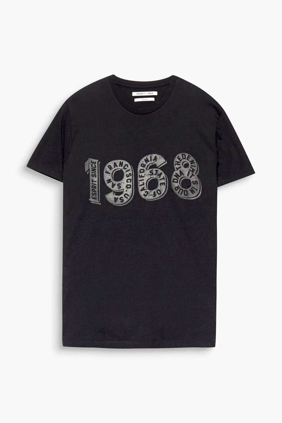 An Esprit heritage piece! This T-shirt boasts a logo print and a high-quality dye finish.