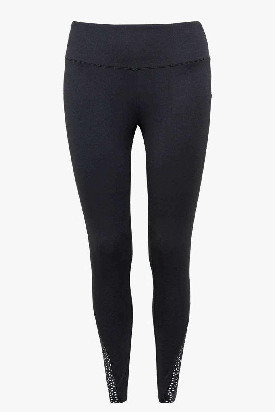 These active leggings with a reflective diamond print on the side hems jolt you into action!