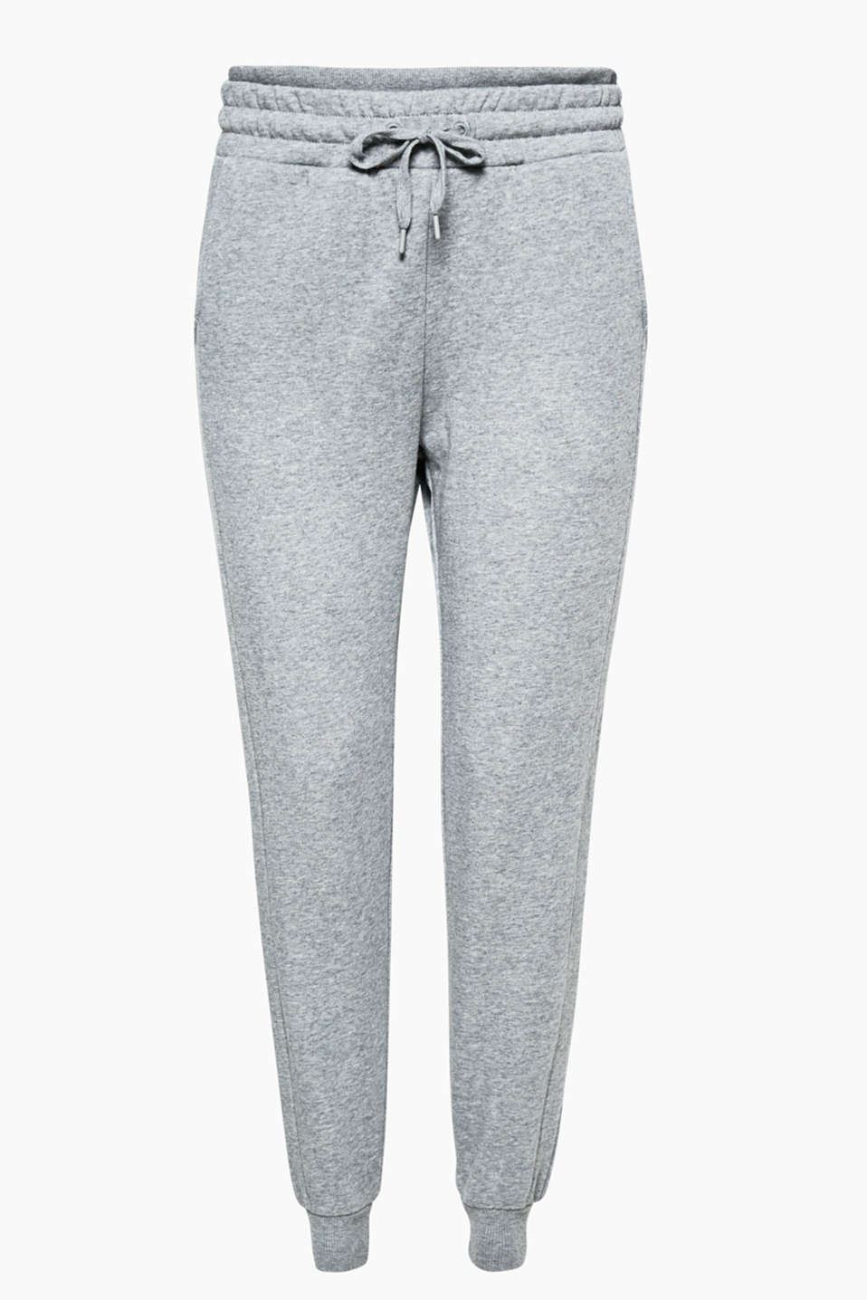 Have fun: working out or relaxing in these sweat tracky bottoms with a softly brushed inner surface and wide waistband!