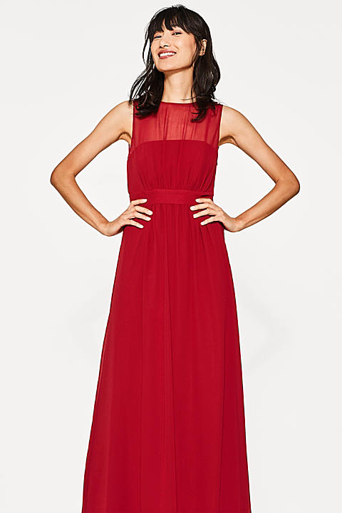 Chiffon-Maxi-Kleid mit Corsage