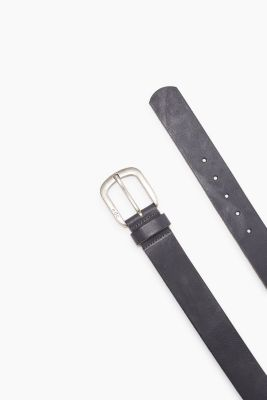 Smooth buffalo leather belt