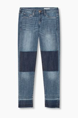 Stretchjeans in patchworkstijl