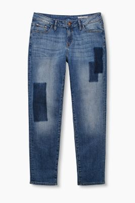 Stretchy jeans in a patchwork finish