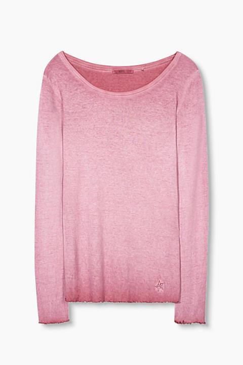 Camiseta deslavada, 100% algodón