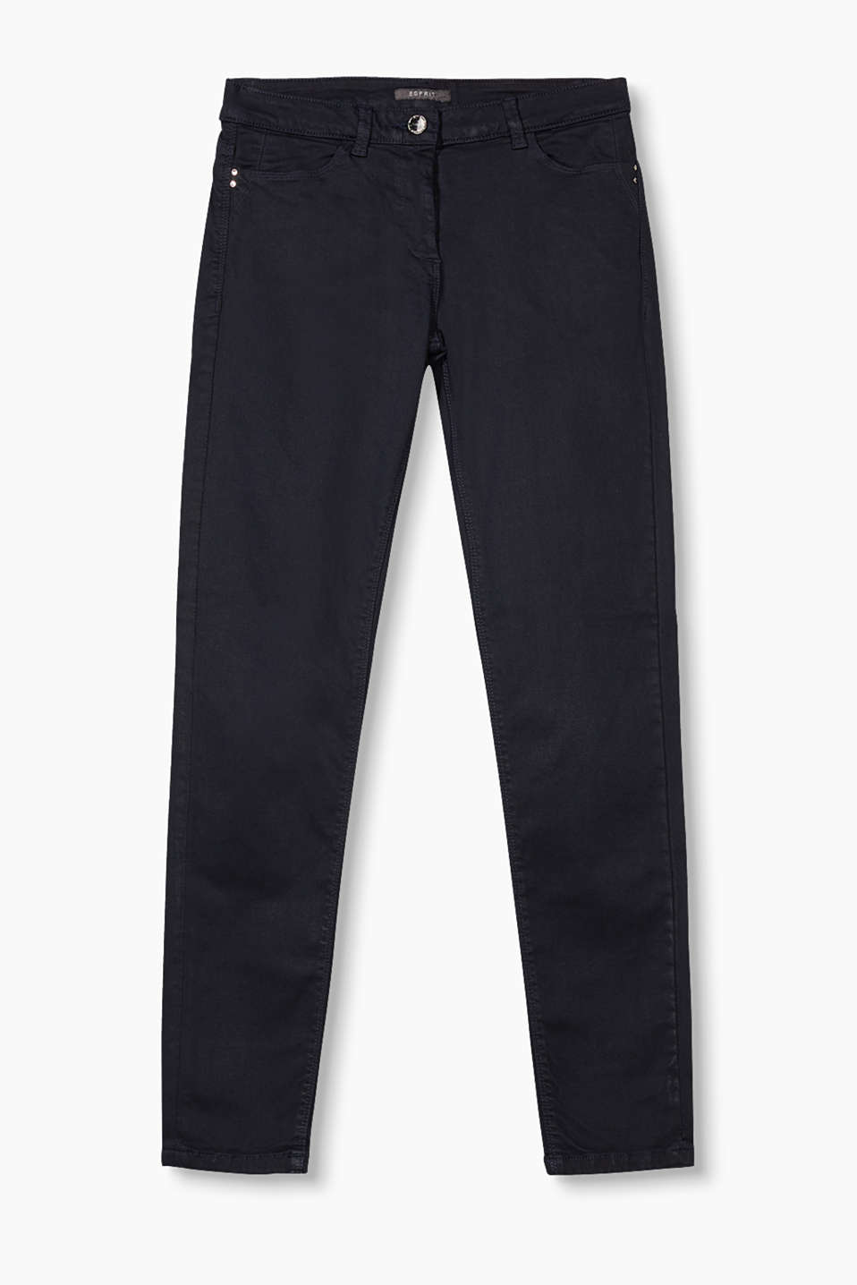 Super stretch jeans in a cotton-modal blend with a silky soft touch