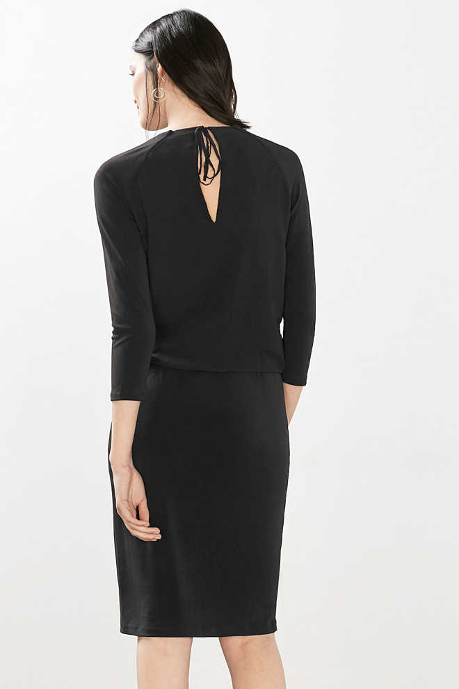 Esprit / Crêpe jersey stretch dress