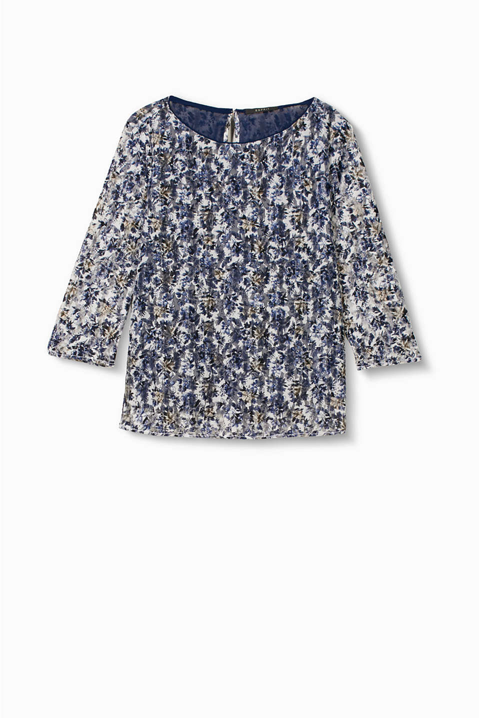 Light and airy blouse in floral, printed lace with georgette lining