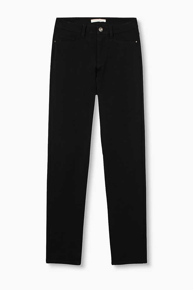 Esprit / High-waist trousers in a stretch cotton blend