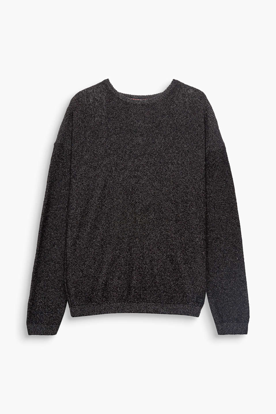 We love knitwear! This sporty jumper in blended cotton with wool comes in an understated design.