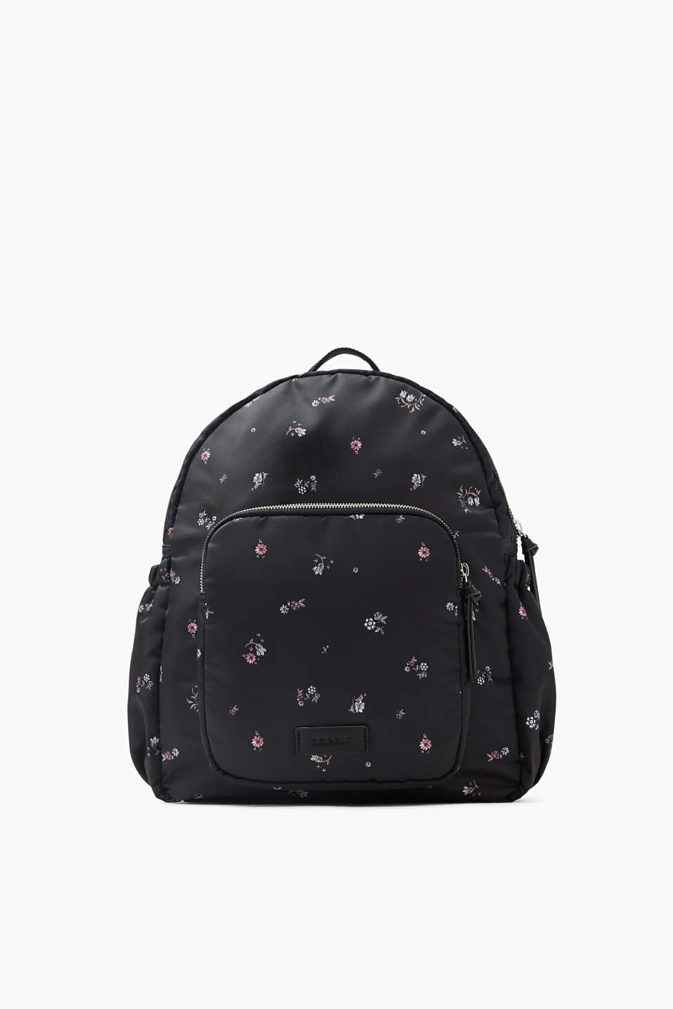 Function meets style with this rucksack made of padded nylon with plenty of storage space and a cool floral print.