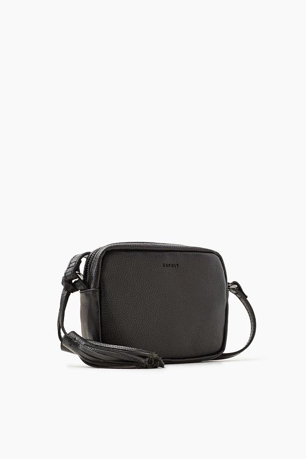 Esprit - Kleine schoudertas van rundleer kopen in de online shop