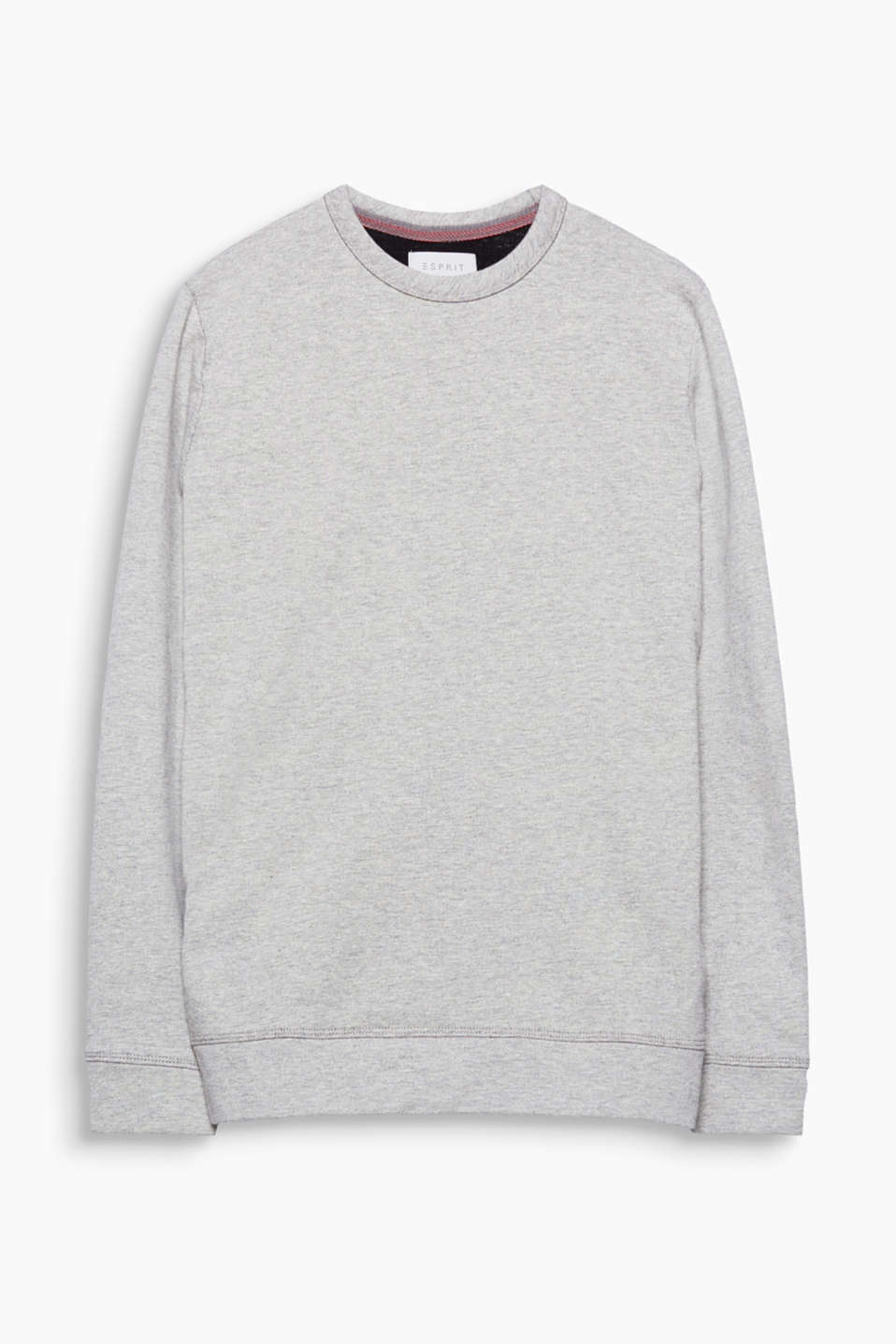 A sporty classic! The fine melange finish gives this sweatshirt a modern, striking vibe.