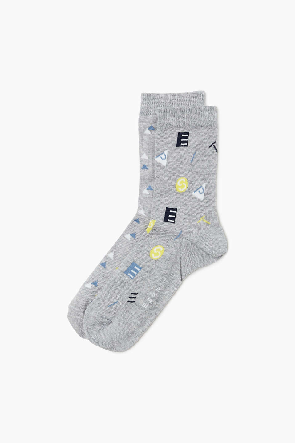 The interwoven geometric shapes and ESPRIT logo make these socks extremely eye-catching!