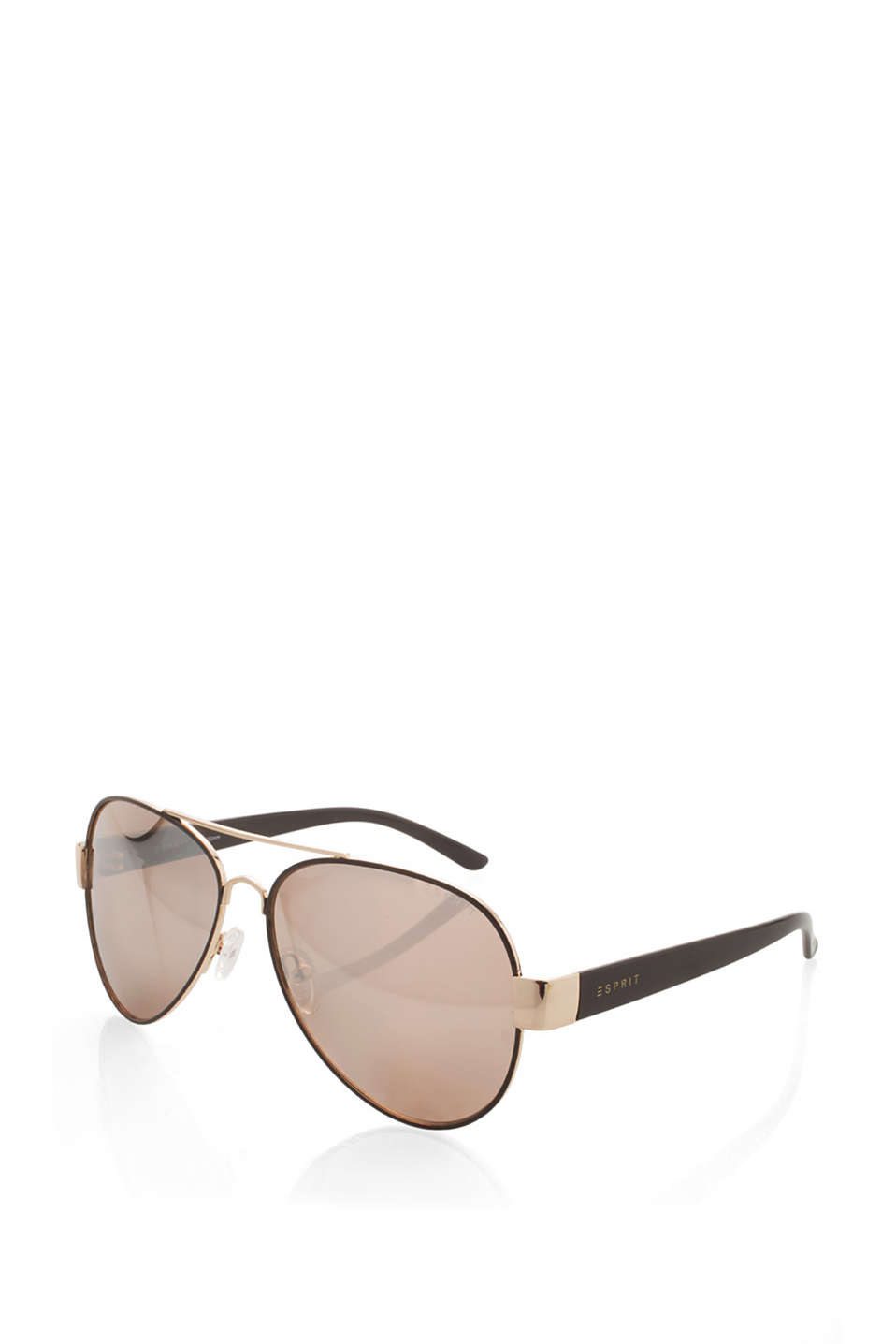 Sunglasses with contrasting temples in a timeless aviator design