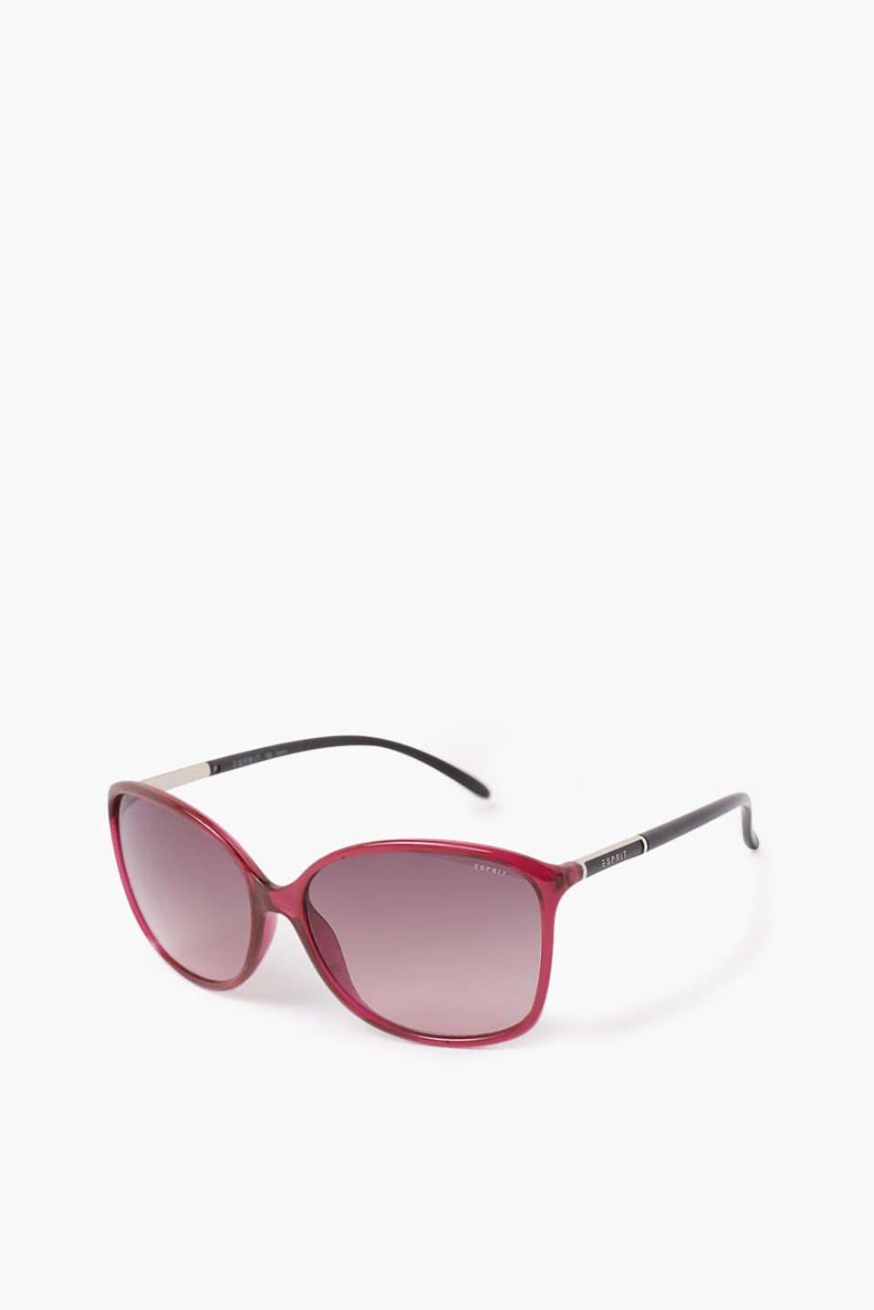 Plastic sunglasses with decorated temples