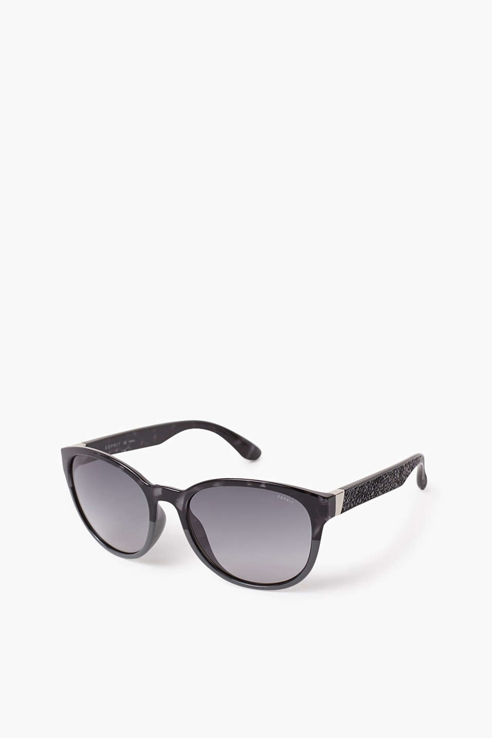 Bicolour plastic sunglasses, colour-graduated lenses