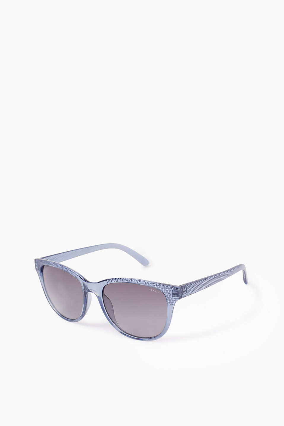 Transparent sunglasses in a cool design featuring graduated colour lenses