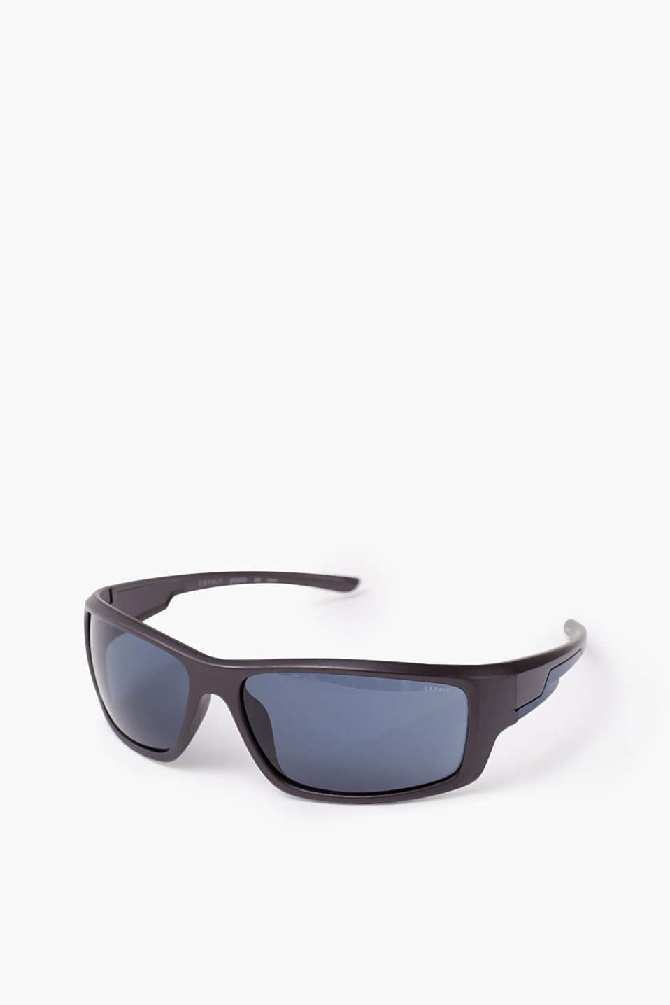 These lightweight, unisex sunglasses are great for active sports in a wrap-around look with trims in a contrasting colour