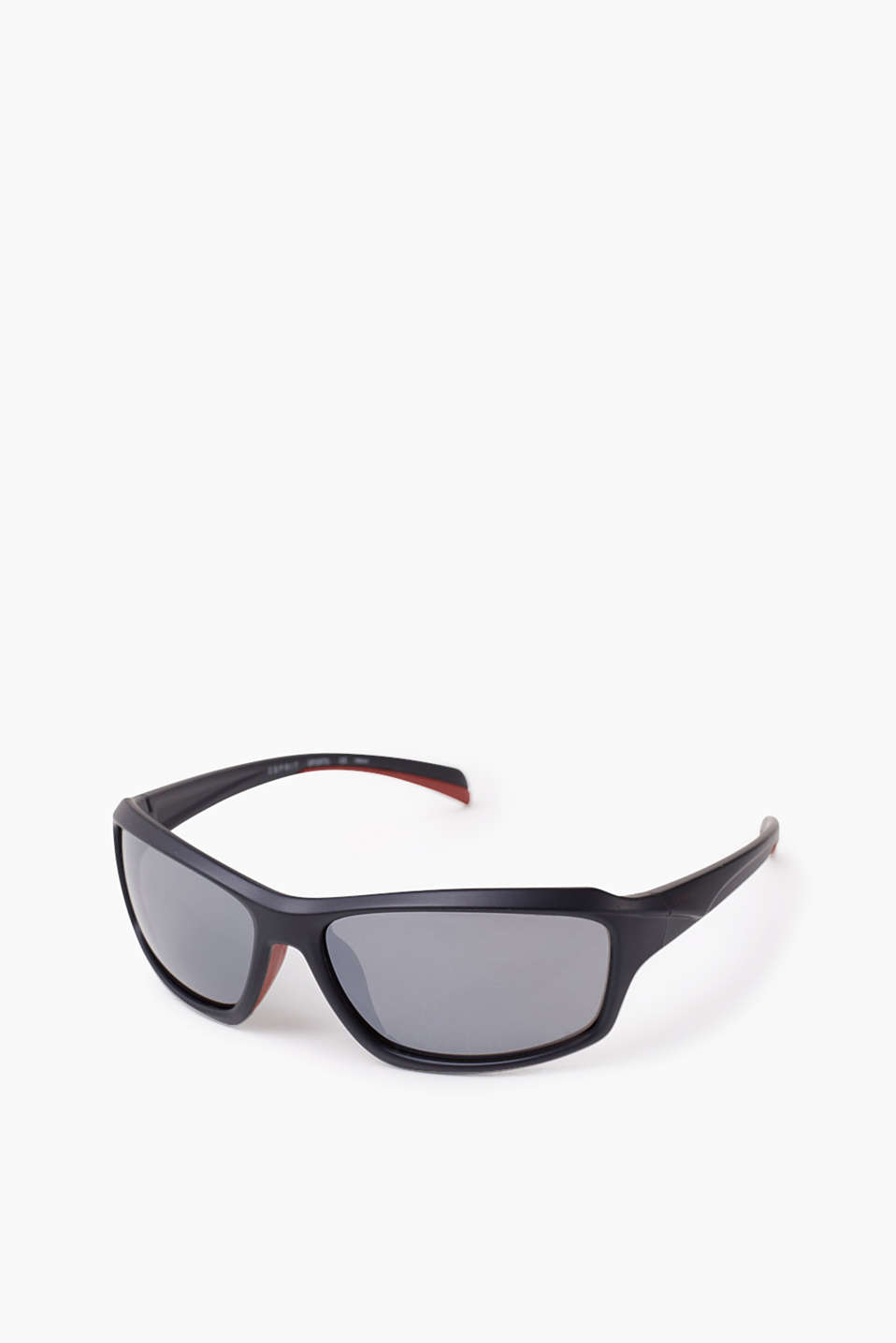 Suitable for active sports: unisex sunglasses with non-slip rubber trims in a contrasting colour
