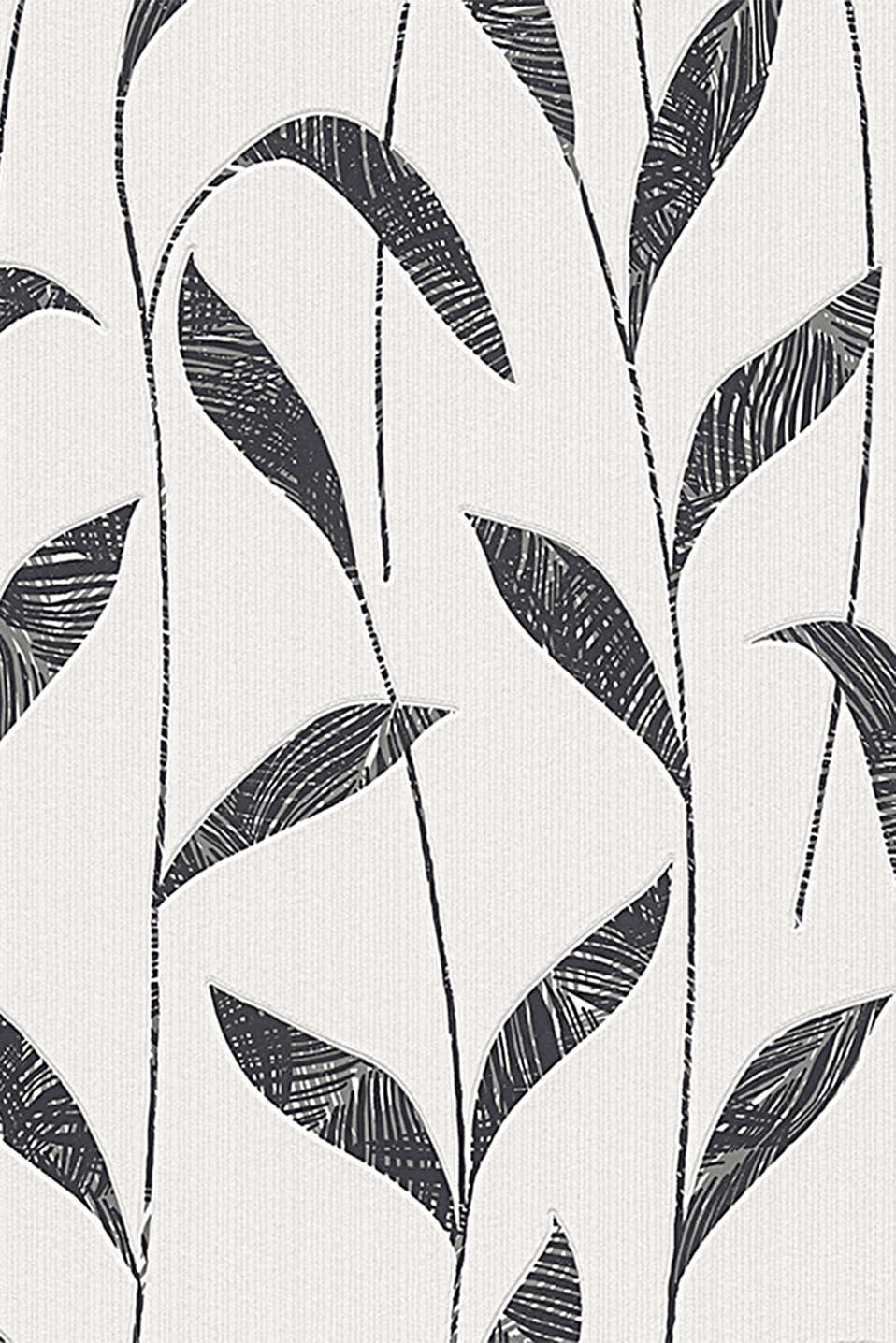 With a black-and-white leaf print