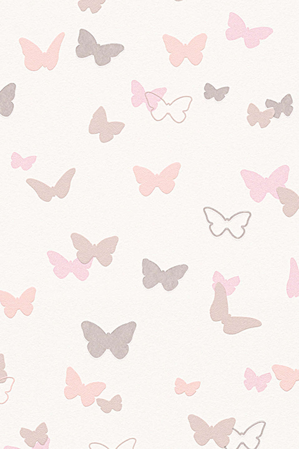with flat and raised butterfly motifs, non-woven textile