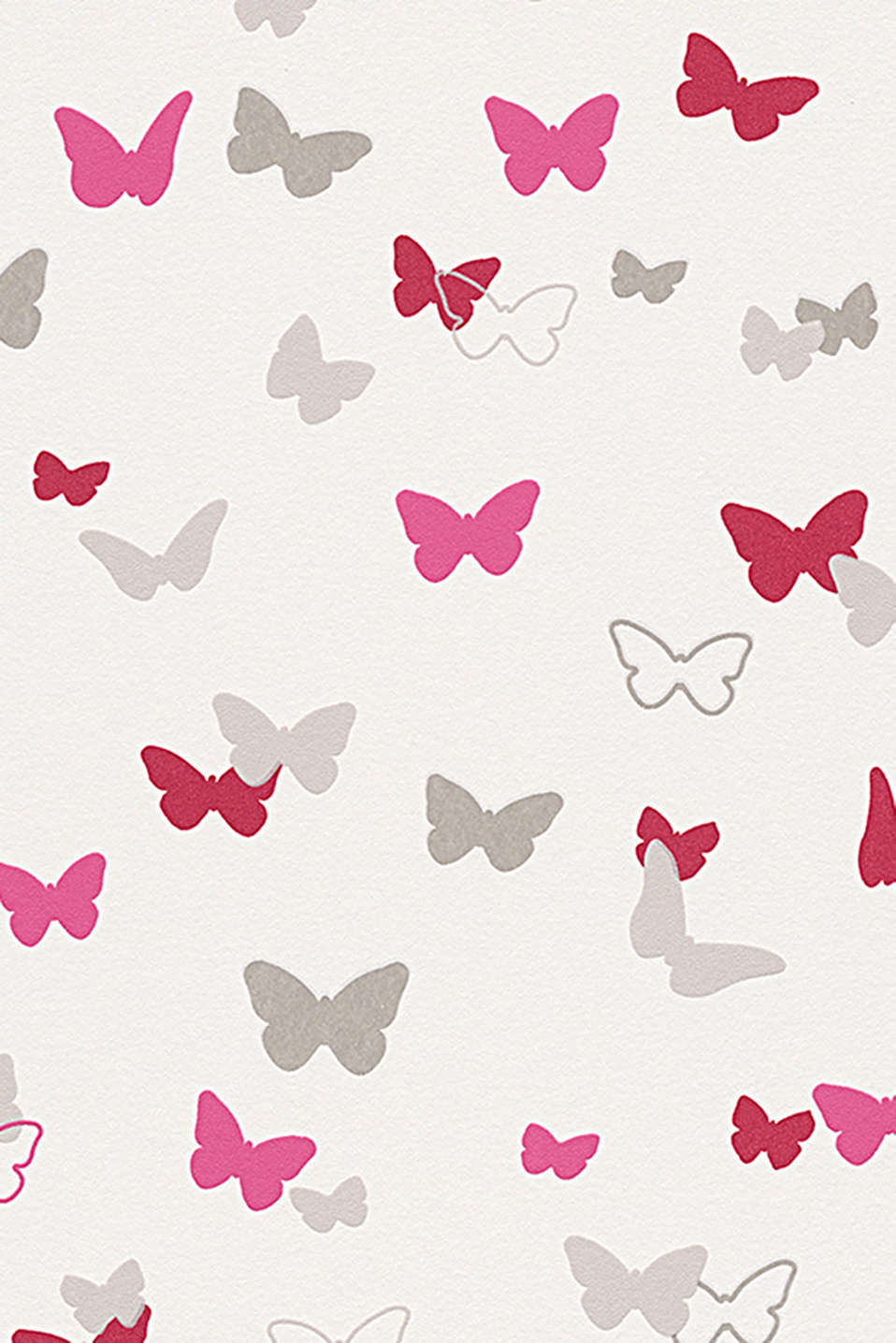 With bright butterfly motifs
