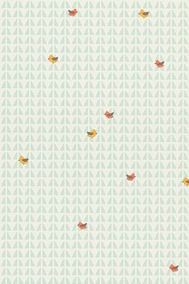 Kindertapete High Sky Birds Patterned