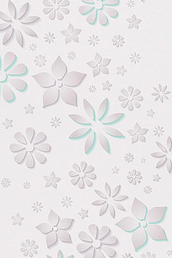 Esprit behang van papier eco patterned kopen in de online shop - Behang van de jaren ...