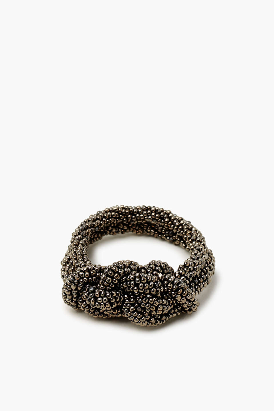 Sophisticated knots: This slightly elastic double bracelet is made up of numerous beads!