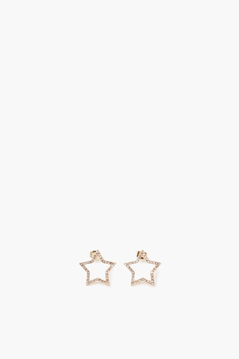 The perfect gift: These glittering rhinestone stars sparkle at the ear lobes!